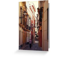 Streets of Seville - Spain  Greeting Card