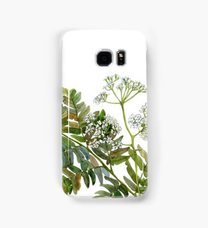 Watercolor fern and flowers Samsung Galaxy Case/Skin