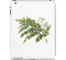 Watercolor fern and flowers iPad Case/Skin