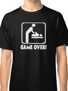 Game Over New Baby Dad Daddy Classic T-Shirt