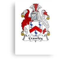 Coat of arms (family crest) for last-name or surname Crawley . Heraldry banner for your name. Metal Print