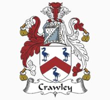 Coat of arms (family crest) for last-name or surname Crawley . Heraldry banner for your name. Kids Clothes