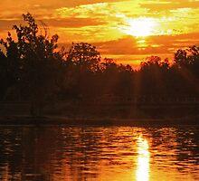 Sunrise at Baltz Lake by Susan Blevins