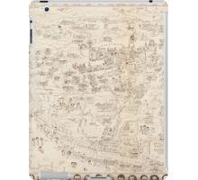 Hollywood Star Map 1937 iPad Case/Skin