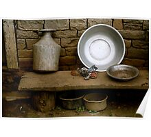 Drying Dishes Poster