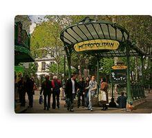 Abbesses Metro Station - Paris Canvas Print