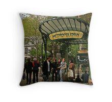 Abbesses Metro Station - Paris Throw Pillow