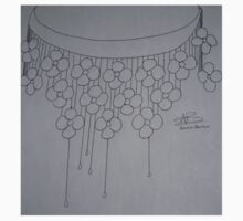 Flower necklace sketch -BW Kids Clothes