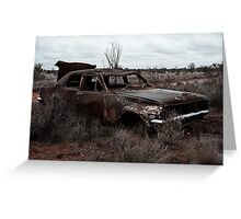 Derelict in the outback Greeting Card