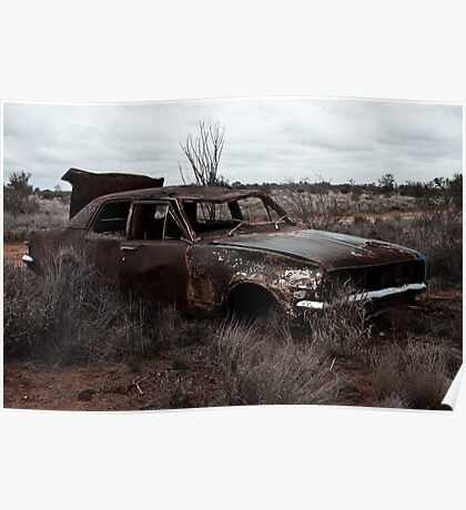 Derelict in the outback Poster