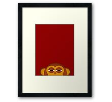 Pocket monkey is highly suspicious Framed Print