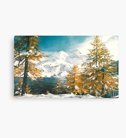 Winter in Austria Canvas Print