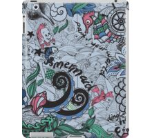 Under The Sea Little Mermaid Voyage Nautical Print iPad Case/Skin