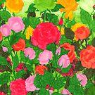 Emerald Rose Heart by Rebecca Tripp