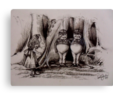 Tweedledee Tweedledum - Suspects  Canvas Print
