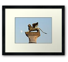 Winged Lion of St. Mark, Venice, Italy Framed Print