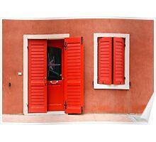 Colourful House Facade Caorle, Italy Poster