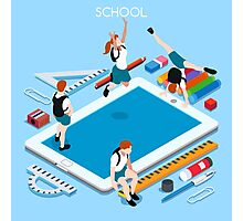 School Devices Tablet Photographic Print
