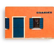 Colourful House Facade, Caorle, Italy Canvas Print