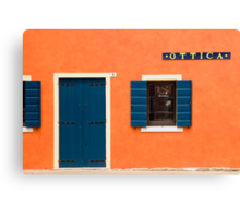 Colourful House Facade, Caorle, Italy Canvas Print