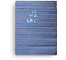 Life as we know it Canvas Print