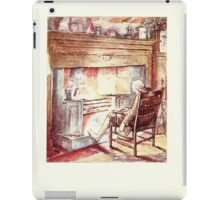 The Tailor of Gloucester Beatrix Potter 1903 0030 Tailor at Fire Tired iPad Case/Skin