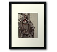 Coat and Hanger Framed Print