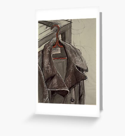 Coat and Hanger Greeting Card