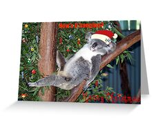 Dont Wake Me christmas morning Greeting Card