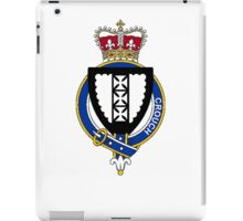 Coat of arms (family crest) for last-name or surname Crouch (England) . Heraldry banner for your name. iPad Case/Skin