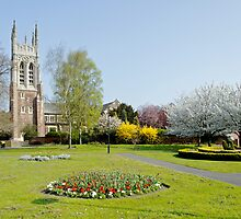 St Peter's Church from Stapenhill Gardens by Rod Johnson