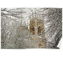 The Minster Through Snow Covered Trees Poster