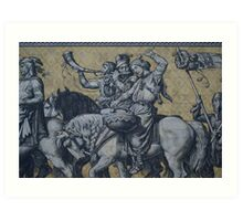 Procession of Princes Wall, Dresden, Saxony Art Print