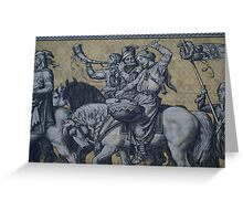 Procession of Princes Wall, Dresden, Saxony Greeting Card
