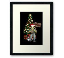 A Creepy Merry Christmas Framed Print