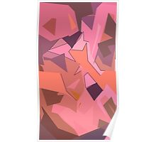 Abstract Silk Flowers in Pink Poster