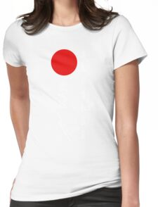 Bushido and Japanese Sun (White text) Womens Fitted T-Shirt