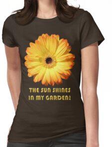 The Sun Shines In My Garden, Yellow Gerbera Womens Fitted T-Shirt