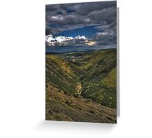 long mynd barren valley Greeting Card
