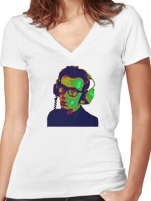 Elvis Costello T-Shirt Women's Fitted V-Neck T-Shirt