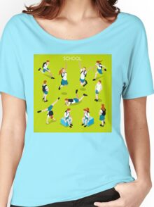 Students Set - Isometric People Women's Relaxed Fit T-Shirt