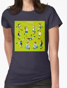 Students Set - Isometric People Womens Fitted T-Shirt