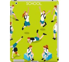 Students Set - Isometric People iPad Case/Skin