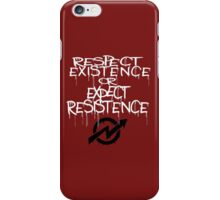 resistance white iPhone Case/Skin