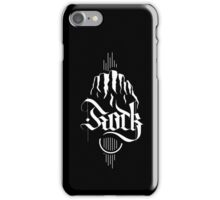 Rock & Mountains (white) iPhone Case/Skin