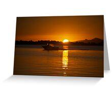 Fisherman returns - Banksia Beach Greeting Card