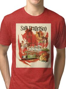 Vintage San Francisco poster Tri-blend T-Shirt