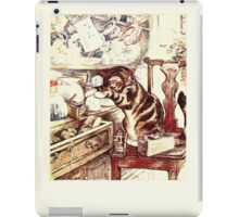 The Tailor of Gloucester Beatrix Potter 1903 0027 Cat In Drawers iPad Case/Skin