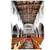 St Oswald's Church Interior ~ Askrigg ~ Poster