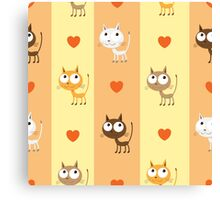Pattern with kittens. Canvas Print